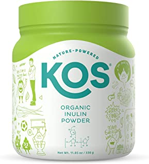 KOS Organic Inulin Powder - Unflavored Inulin (Agave) Prebiotic Intestinal Support Powder - USDA Organic, Digestive Health...