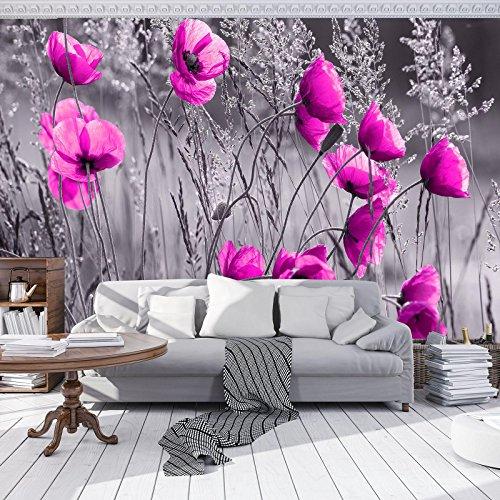 DekoShop Fototapete Mohnblumen Wandtapete - P8 (368cm. x 254cm.) Moderne Wanddeko Design Tapete AMD11764P8 Natur, Wald, Blumen Wohnzimmer Schlafzimmer