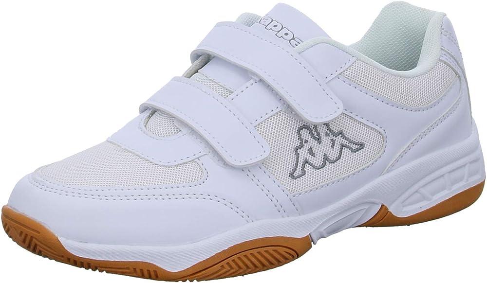 Kappa dacer kids, scarpe da ginnastica basse unisex-bambini - ragazzi,in tessuto e pelle sintetica 260683
