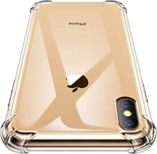 GVIEWIN Crystal Clear iPhone Xs/iPhone X Case, Soft TPU Cover with Shock Absorption Bumper Corners and Transparent Back Slim & Protective Cases for iPhone Xs/iPhone X 5.8