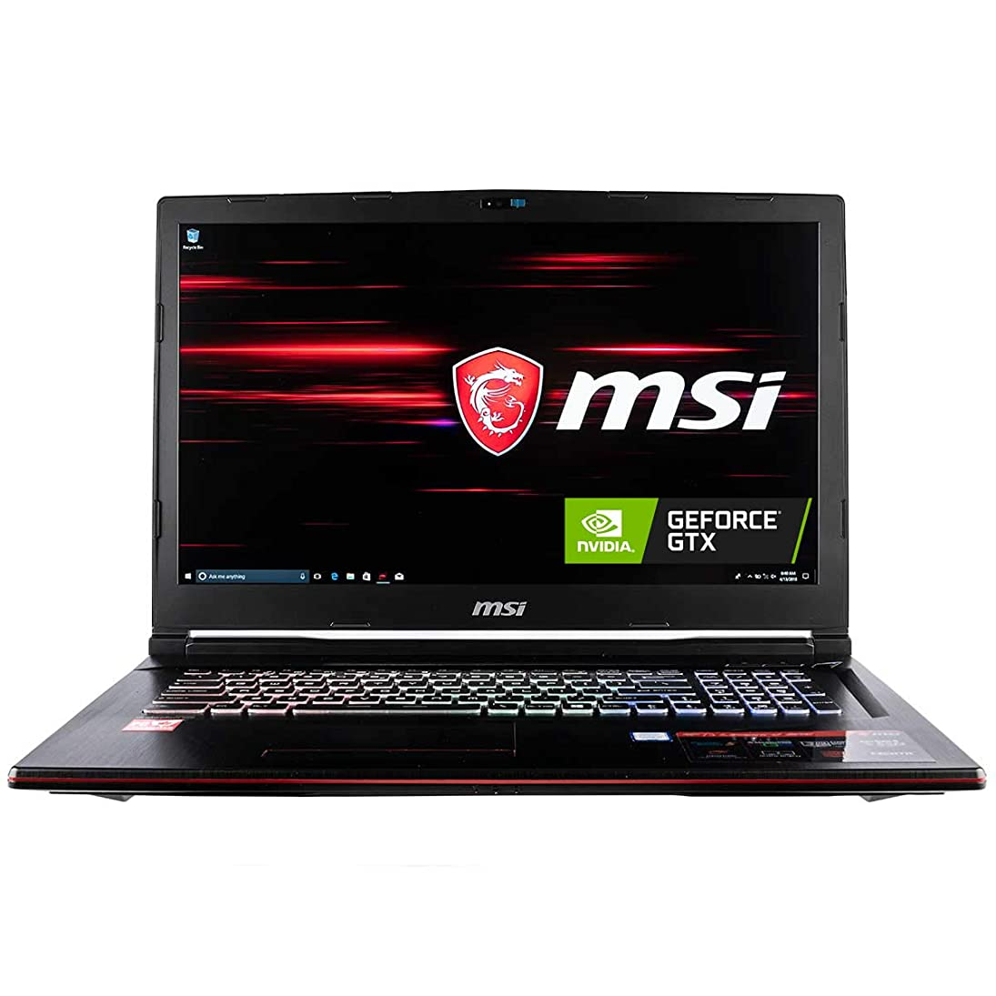 CUK MSI GP73 Leopard Gaming Laptop (8th Gen Intel Core i7-8750H, 32GB RAM, 1TB NVMe SSD + 1TB HDD, NVIDIA GeForce GTX 1060 6GB, 17.3