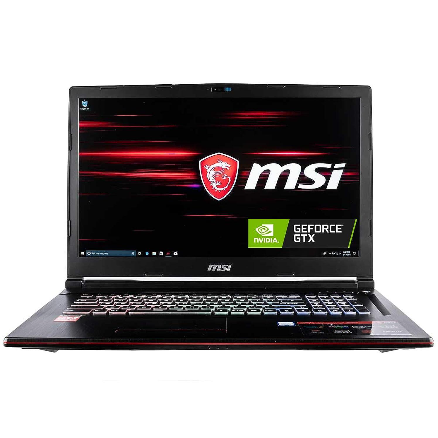 CUK MSI GP73 Leopard Gaming Laptop (8th Gen Intel Core i7-8750H, 32GB RAM, 1TB NVMe SSD + 2TB HDD, NVIDIA GeForce GTX 1060 6GB, 17.3