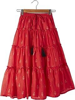 Srishti By FBB Foil Print Tiered Skirt