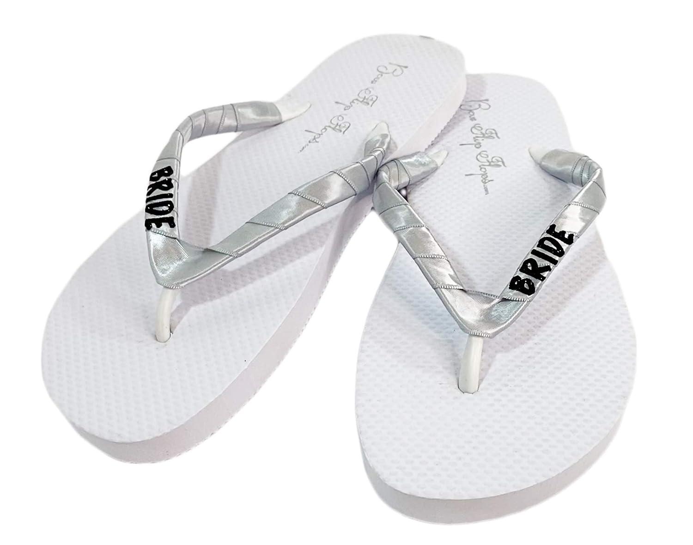 Cute Ranking TOP3 White Flat Glitter Bride Flip Black Satin store Si Flops Ribbon