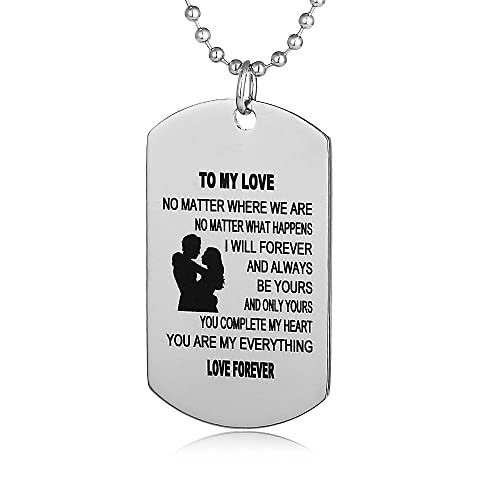 FAYERXL Gifts For Boyfriend Girlfriend Husband And Wife Jewelry Military Stainless Chains Air Force Pendants Dog