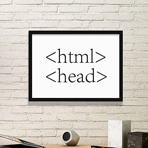 DIYthinker Programmer Programm Statement HTML Einfacher Bilderrahmen Kunstdrucke Malereien Startseite Wandtattoo Geschenk Small Schwarz