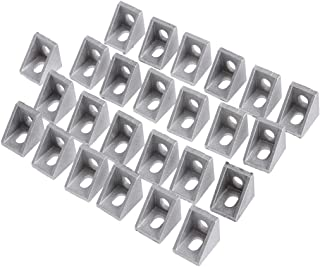 25Pcs 2020 Corner Bracket for 20mm Aluminum Extrusion (Dull Polish)