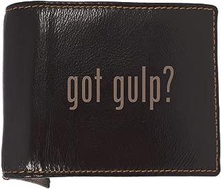 got gulp? - Soft Cowhide Genuine Engraved Bifold Leather Wallet