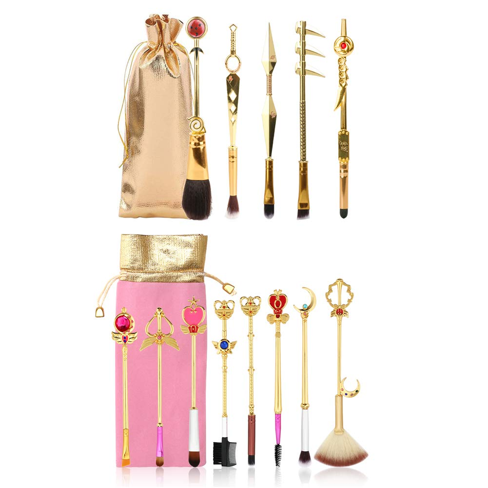 13PCS Naruto Challenge the lowest price Brush and Sailor Moon Brushes Cheap SALE Start Metal Hand Set Makeup