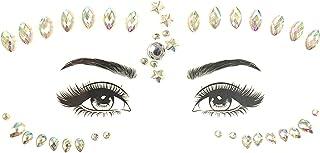 CQHUI Glitter Gezicht Juwelen Sticker Tijdelijke Tattoo Party Face Make Tools Rhinestones Flash Tattoo Stickers Fake Diamo...