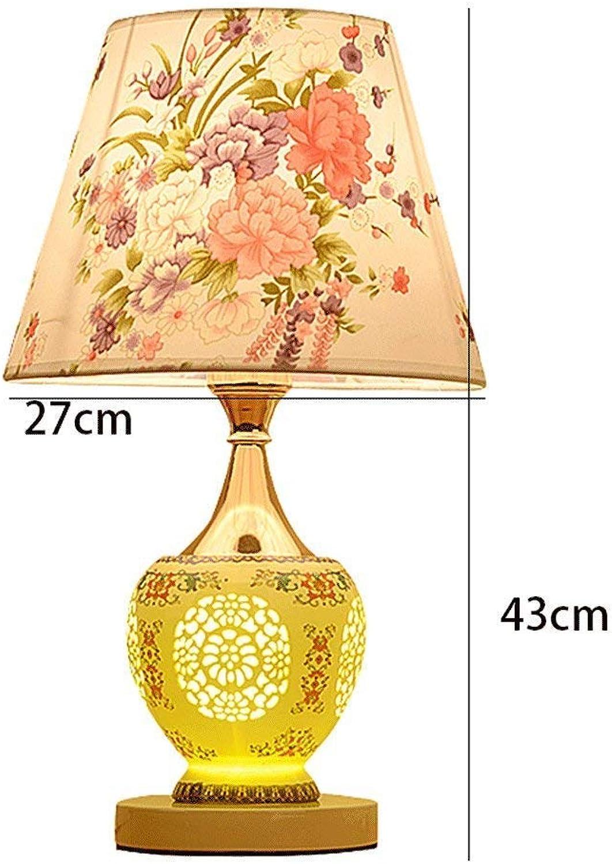 AME Tischlampe europäischen modernen minimalistischen Keramik Lampe Schlafzimmer Nachttisch Lampe Wohnzimmer, H43Cm  W27Cm B07J631HFJ | Niedrige Kosten