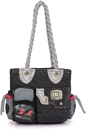 Click Jeans Black Girl's Shoulder Bag