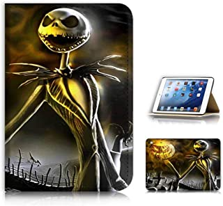(For iPad Mini 1 2 3, Generation 1/2/3) Flip Case Cover & Screen Protector Bundle - A21580 Nightmare Before Christmas