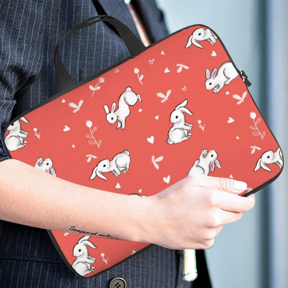 Diving Fabric,Neoprene,Sleeve Laptop Handle Bag Handbag Notebook Case Cover Pink Bunny,Classic Portable MacBook Laptop//Ultrabooks Case Bag Cover 15 inches