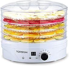 Máquina de conservación de alimentos para el hogar Deshidratador de frutas, Pantalla táctil eléctrica inteligente Temperatura ajustable Temporización Silencio 5 capas Plato de cristal plástico Plato C