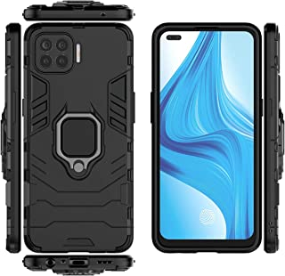QiongNi Case for Oppo Reno 4 Lite Case Cover,360 Degree Rotating Ring Holder Kickstand with Magnetic Car Mount Case for Op...