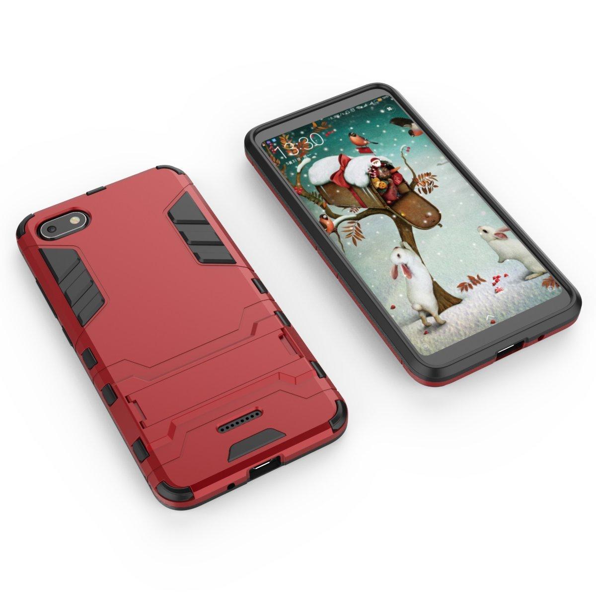 HDRUN Funda Xiaomi Mi 9-2in1 Duro PC Rojo Suave TPU Silicona Dual Layer Hybrid High Absorci/ón de Impacto con Soporte Armadura Carcasa Case para Xiaomi 9