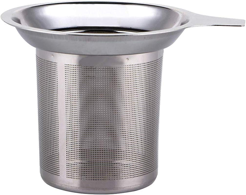BESTONZON Stainless Steel Coffee Strainer Mesh Tea Strainer Filter With Handle For Home Kitchen Coffee Shop