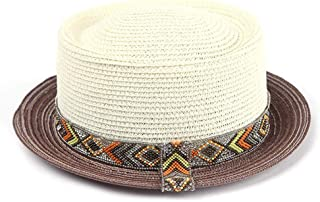 Hats European and American Style Beach Hat Lady Spring and Summer Wear Cap Fashion (Color : Beige)