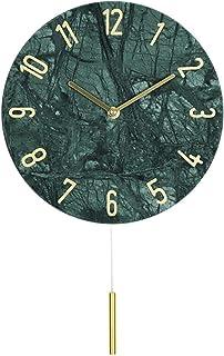 Living room decoration wall clock الرخام ساعة الحائط مقياس البطارية الرقمية كتم بالطاقة الأخضر على مدار الساعة الداخلية ال...