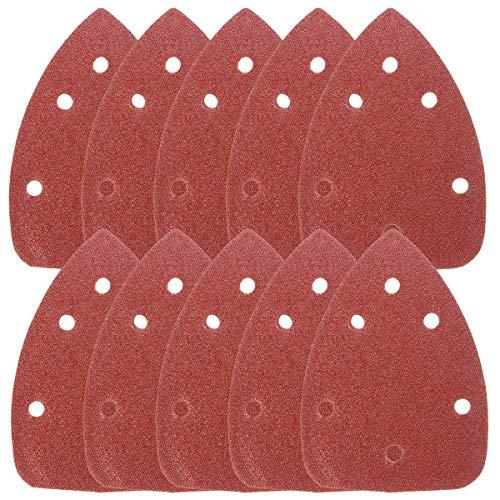 50pc 90mm Delta Sanding Sheets 240g GRIT Triangle Sander//Grinder Paper Pad