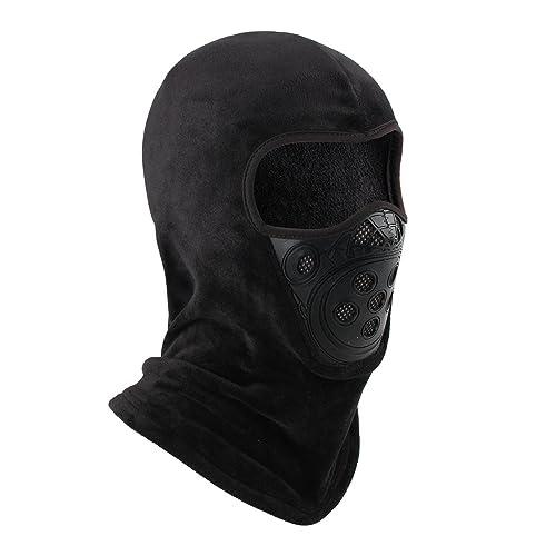 OMECHY Balaclava Windproof Ski Mask Outdoor Cold Weather Face Mask Neck  Warmer Black e36d0a05cb7