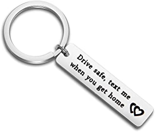 Driver Keychain Drive Safe Keychain Drive Safe Text Me When You Get Home Sweet 16 Gift Trucker Husband Boyfriend Gift New Driver Gift