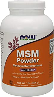 NOW Supplements, MSM (Methylsulfonylmethane) Powder, 16 Ounce