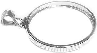 Flintski Jewelry Sterling Silver 1/10 Oz Krugerrand Coin Edge Coin Bezel Frame Mount 16.46mm x 1.19mm
