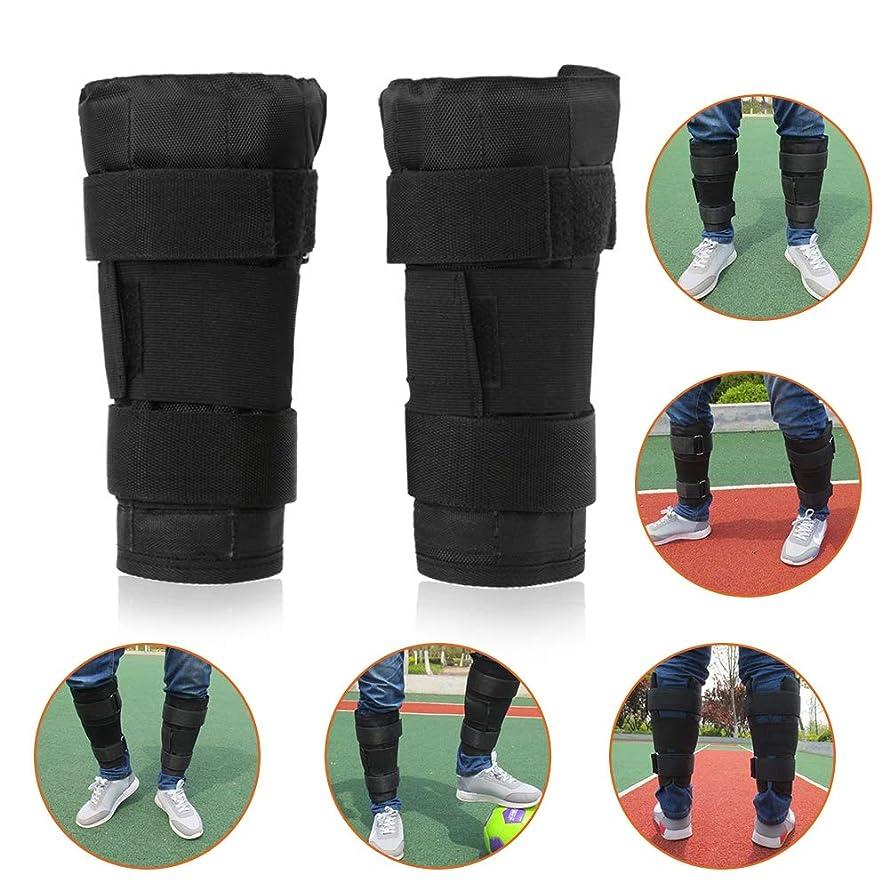 ミニ見えない宴会ウェイトバンド アンクルウェイト 足首 耐摩耗 鋼板用のポケットが付き 調整可能 加重 筋トレ 足腰 筋力 エクササイズ 1ペア ブラック
