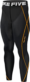 New 198 Black Mens Skin Tights Compression Under Layer Running Sports Pants (M)