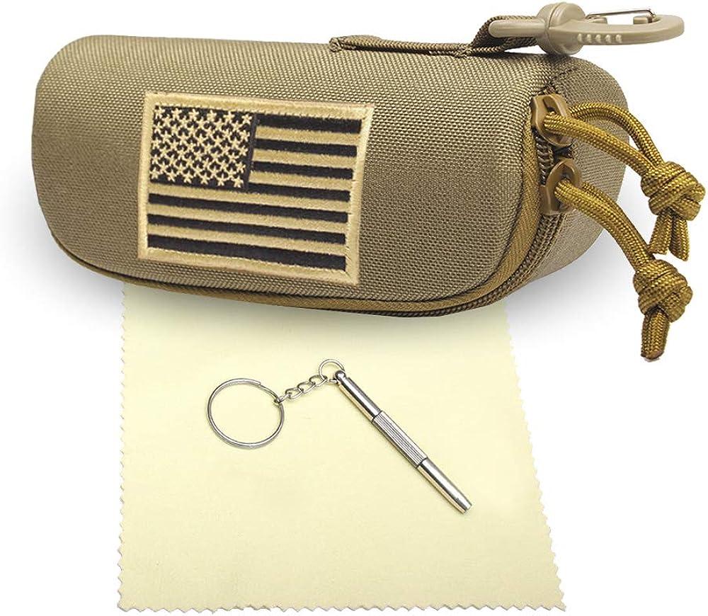 Tactical Molle Sunglasses Case, Zipper Eyeglasses Sunglasses Bag Glasses Box