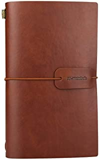 Vintage PU Leather Travel Notebook Journal Refillable Jurnals Lined Paper Diary Planner Writing Notepad Pocket Note Book for Men