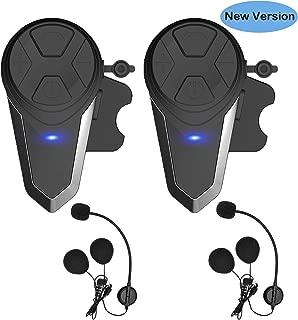 Thokwok Motorcycle Bluetooth Headset,BT-S3 1000m Helmet Headphones for Snowmobile Motorcycle Bluetooth Communication System Ski Intercom Up to 3 Riders(Pack 2)