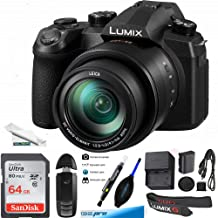 $749 » PANASONIC LUMIX FZ1000 II 20.1MP Digital Camera, 16x 25-400mm Leica DC Lens, 4K Video, Optical Image Stabilizer and 3.0-inch Display – Point and Shoot Camera - DC-FZ1000M2 (Black) - 64GB Basic Kit