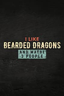 Guitar Tab Notebook - I Like Bearded Dragons and Maybe 3 People Funny Lizard Gifts Pretty: Guitar Tablature Writing Paper ...