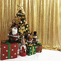 6Ftx6Ft Gold Sequin Photo Booth Backdrop
