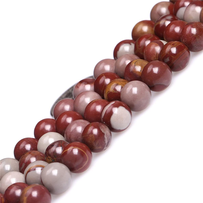 GEM-inside Natural Round Dark Red 8mm Australia Noreena Jasper Gemstone Semi Precious Beads for Jewelry Making 15