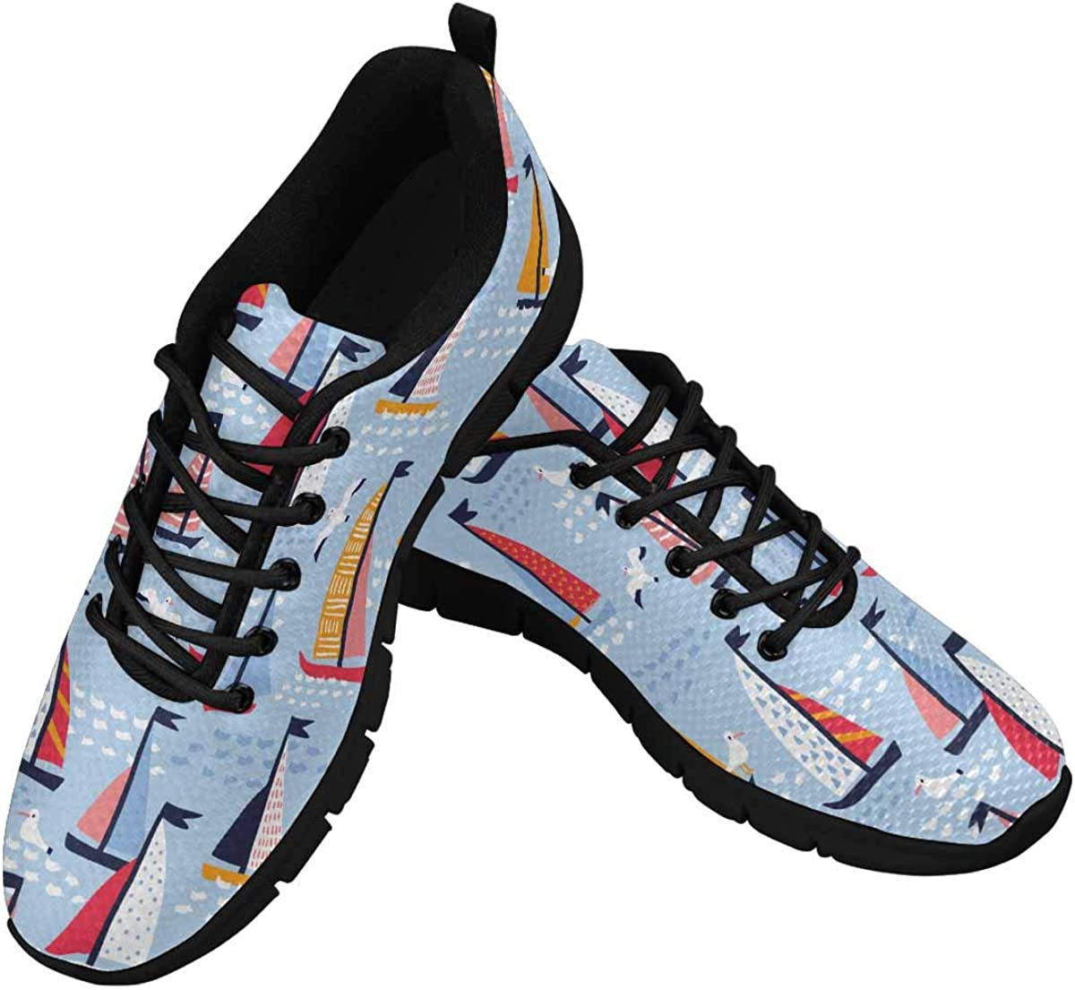 Shipping included INTERESTPRINT Sailing Yachts and Women's Mesh Seagulls Athletic Popular popular
