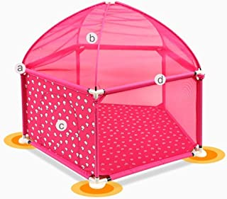 Asdfnfa Baby Fence Portable Activity Center Indoor and Outdoor Safety Playground (Color : Pink, Size : Style1)