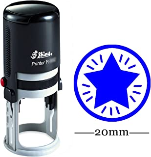 Star Round Self Inking Rubber Stamp Custom Shiny 20 mm Mini Stamps Personalized Teachers Stamps