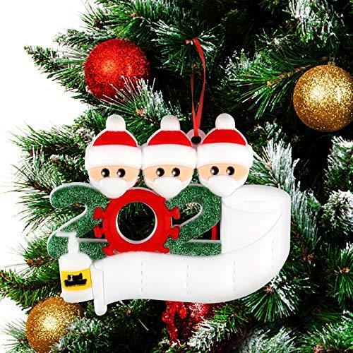 Adornos de árbol de Navidad 2020(3 cabezas)