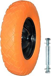 MLJ Rueda Carretilla Amarillo Goma NeumáTico, 2 colores (Naranja)