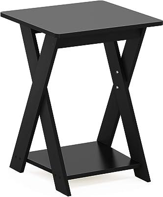 Furinno Modern Simplistic End Table, 1-Pack, Espresso