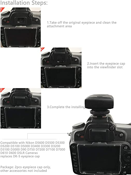 Nikon DK-5 BS1 SET Eyepiece Cap Viewfinder Cover for D80 D90 D3000 D3100 D5000