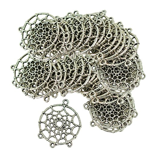 Bonarty 40pcs Dream Catcher Spider Web Dreams Conectores Colgantes Encantos Artesanía Colgante