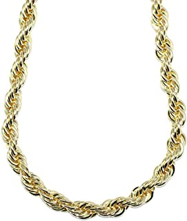 Mega Jewellery 18K Gold Plated Rope Chain 10mm X 30