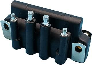 Tuzliufi Replace Ignition Coil Johnson Evinrude Outboard 2hp 2.3hp 2.5hp 3hp 3.3hp 4hp 6hp 8hp 9.9hp 15hp 28hp 40hp 45hp 50hp 55hp 80hp 90hp 105hp 115hp 150hp 175hp Dual Plug Wire 2 4 6 Cylinder Z141