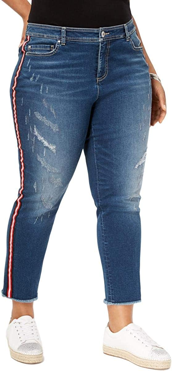 INC Womens Medium Wash Slim Tech Fit Ankle Jeans