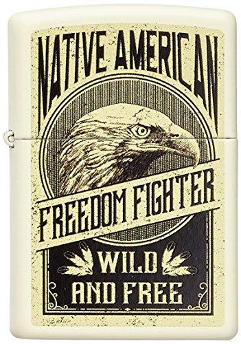 Zippo Eagle Benzinfeuerzeug, Messing, Edelstahloptik, 1 x 6 x 6 cm